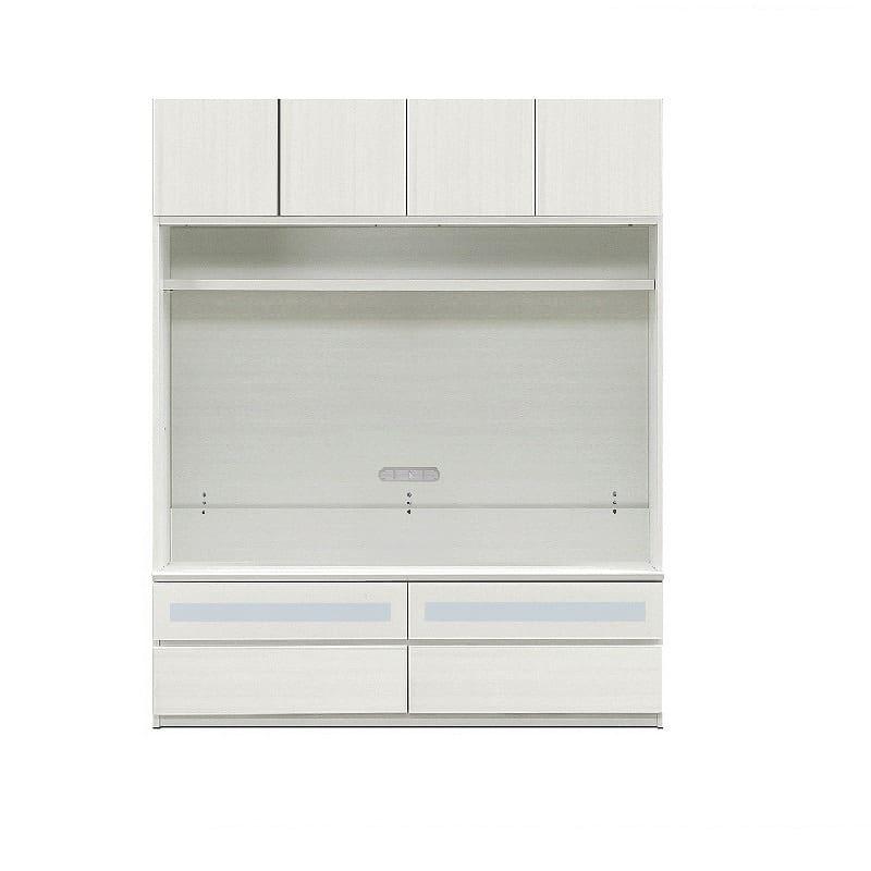 壁面収納シマウ 160cm 板戸TV ウッドホワイト:板戸TV ※木製テレビ棚は別売りです