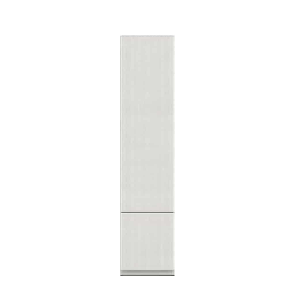壁面収納 シマウ 幅40cm キャビネット 板戸CB(右) ウッドホワイト:壁面収納 シマウ 40cm キャビネット 板戸CB(右)
