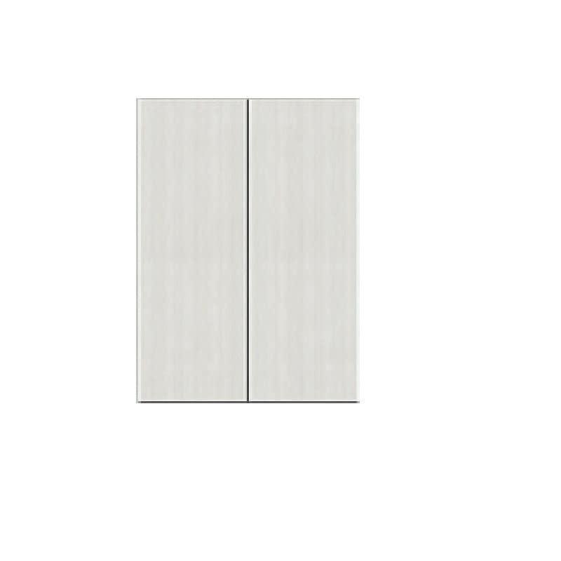 壁面収納 シマウ 幅80cm【上台】板戸 ウッドホワイト:壁面収納 シマウ 80cm【上台】板戸