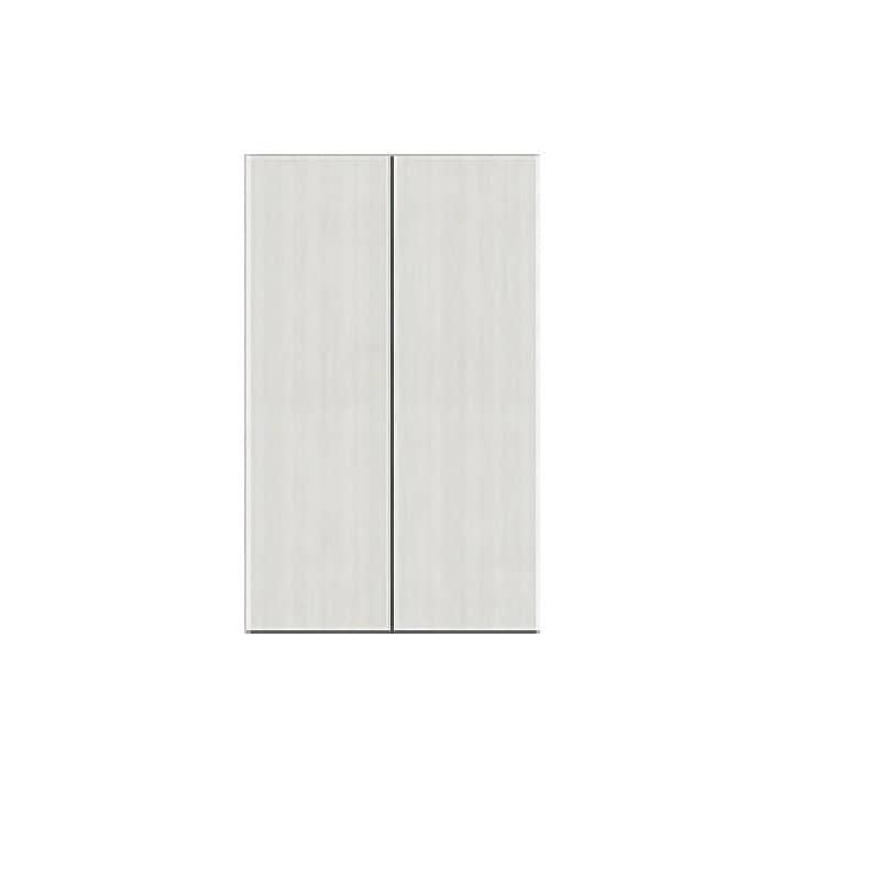 壁面収納 シマウ 幅60cm【上台】板戸 ウッドホワイト:壁面収納 シマウ 60cm【上台】板戸
