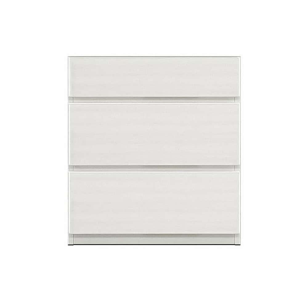 壁面収納 シマウ 幅60cm【下台】引出し ウッドホワイト:壁面収納 シマウ 60cm【下台】引出し