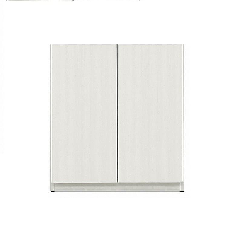 壁面収納 シマウ 幅80cm【下台】板戸 ウッドホワイト:壁面収納 シマウ 80cm【下台】板戸