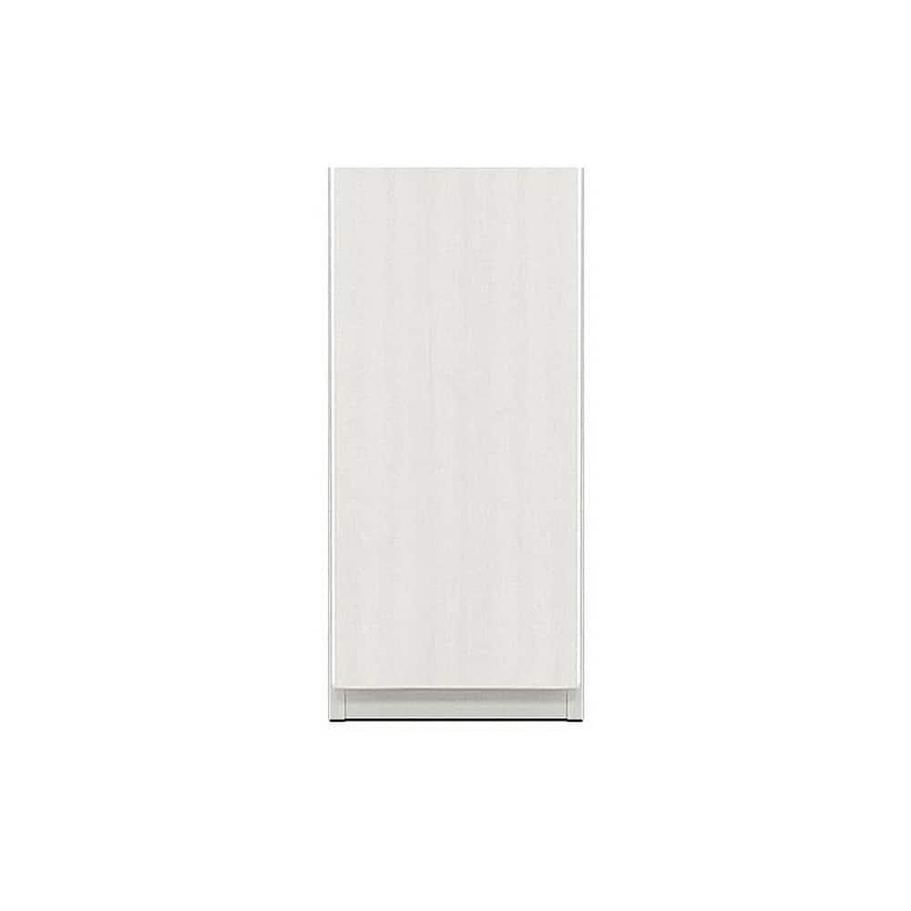 壁面収納 シマウ 幅40cm【下台】板戸(右) ウッドホワイト:壁面収納 シマウ 40cm【下台】板戸(右)