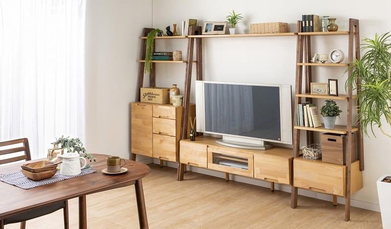TVボード リーフパーク135TV台 NA・DBN:インテリアのトータルコーディネートを実現