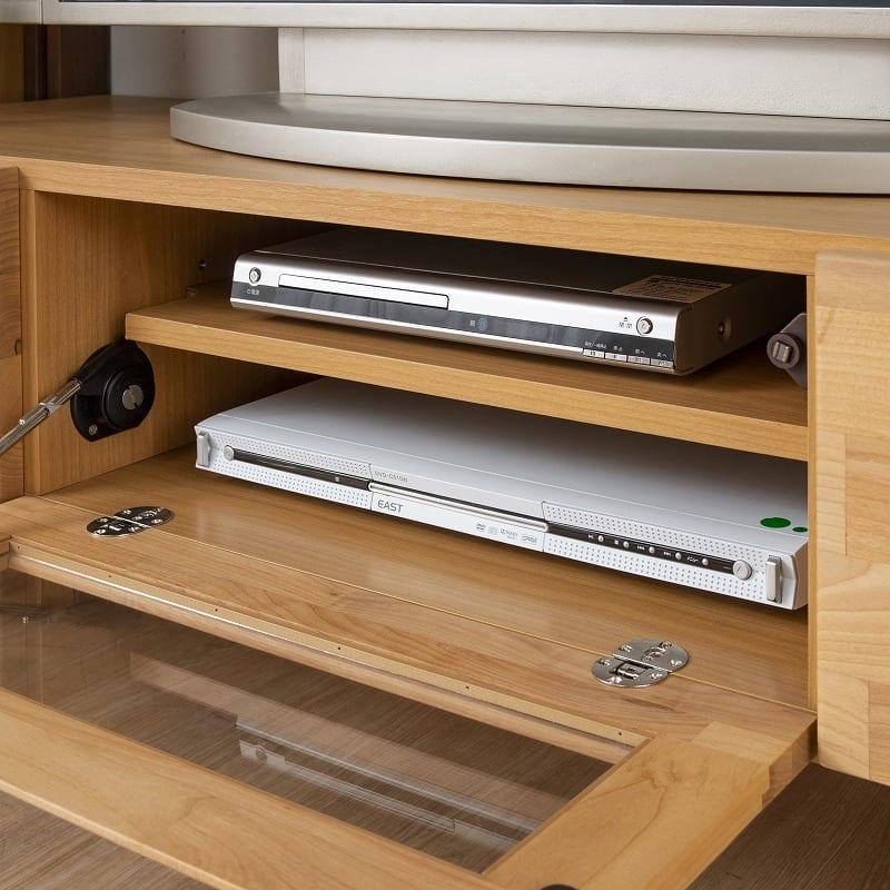 TVボード リーフパーク135TV台 NA・DBN:2段の家電収納を完備