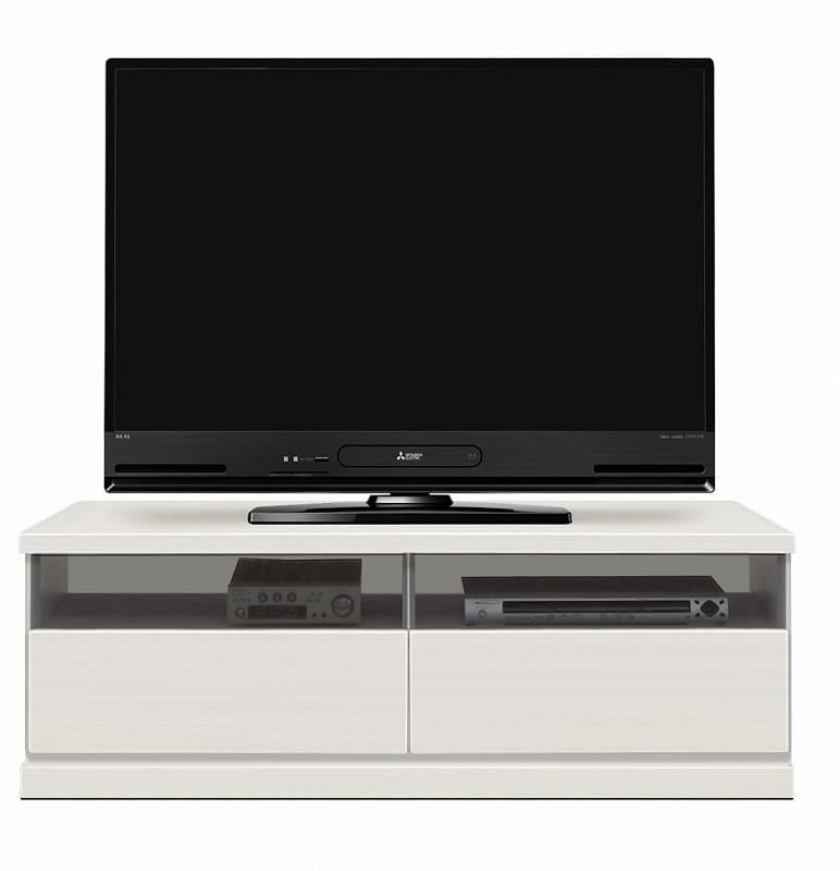 ローボード ウェイク 120TV(WH木目):驚きのロングサイズ テレビは商品に含まれません