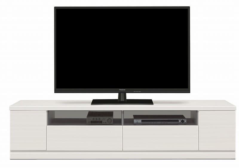 ローボード ウェイク 180TV(WH木目):驚きのロングサイズ テレビは商品に含まれません