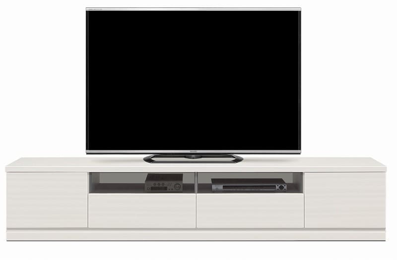 ローボード ウェイク 210TV(WH木目):驚きのロングサイズ テレビは商品に含まれません