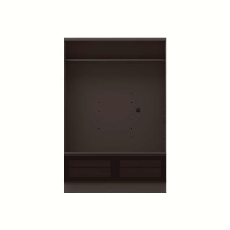 テレビボード QW−A1200 B ブラックグレイン:テレビボード
