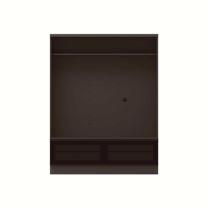 テレビボード QW−A1400 B ブラックグレイン:テレビボード