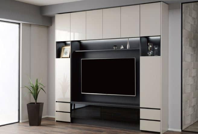テレビボード QW−A1400 B ブラックグレイン