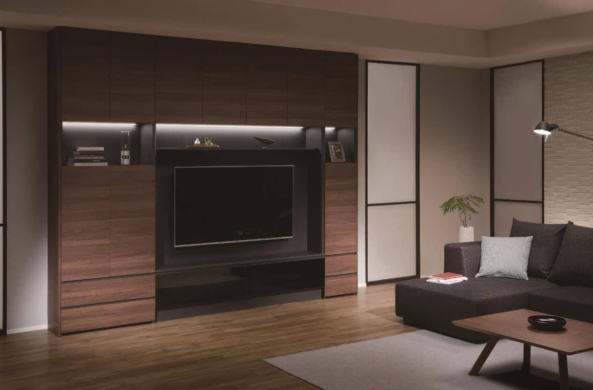 テレビボード QW−AE1200 B ブラックグレイン