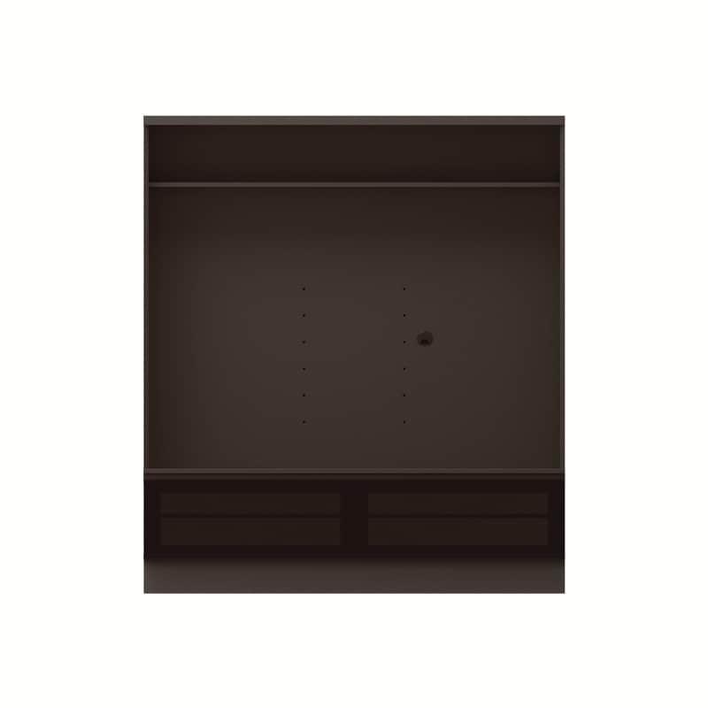 テレビボード QW−AE1600 B ブラックグレイン:テレビボード