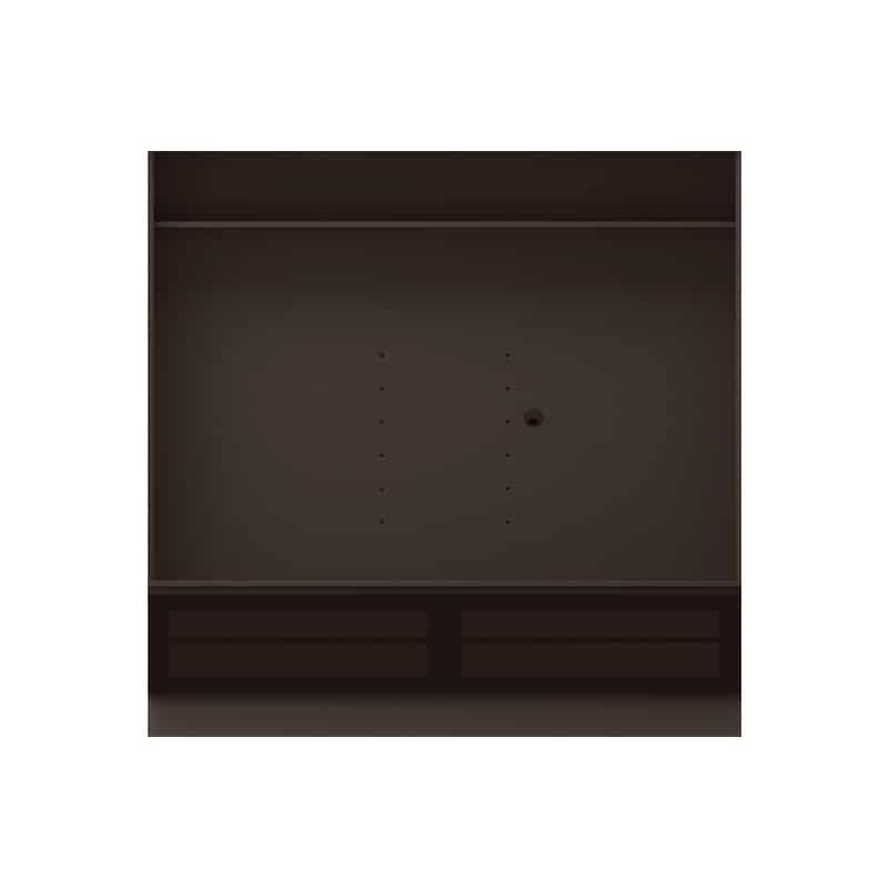 テレビボード QW−AE1800 B ブラックグレイン:テレビボード