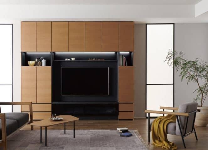 テレビボード QW−AE1800 B ブラックグレイン