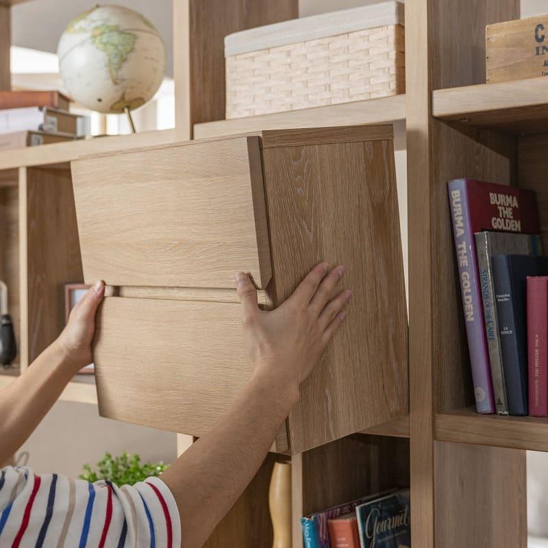 【セット】ラックタイプ ボックス455 Lタイプ WN:使いやすい場所に設置しましょう