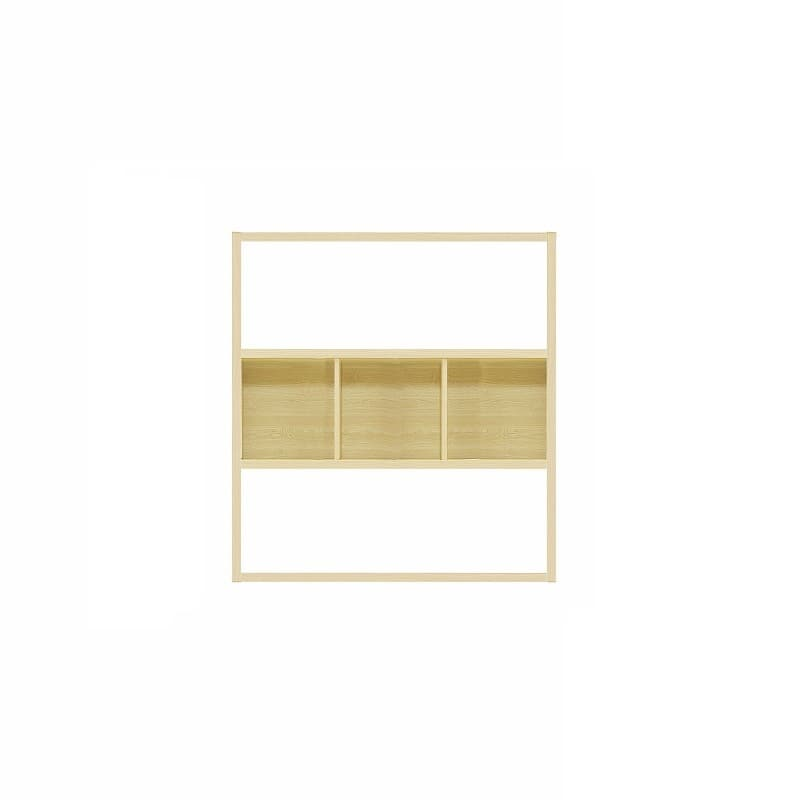 【セット】ラックタイプ ボックス1265 Lタイプ OAK:収納力&解放感の両立