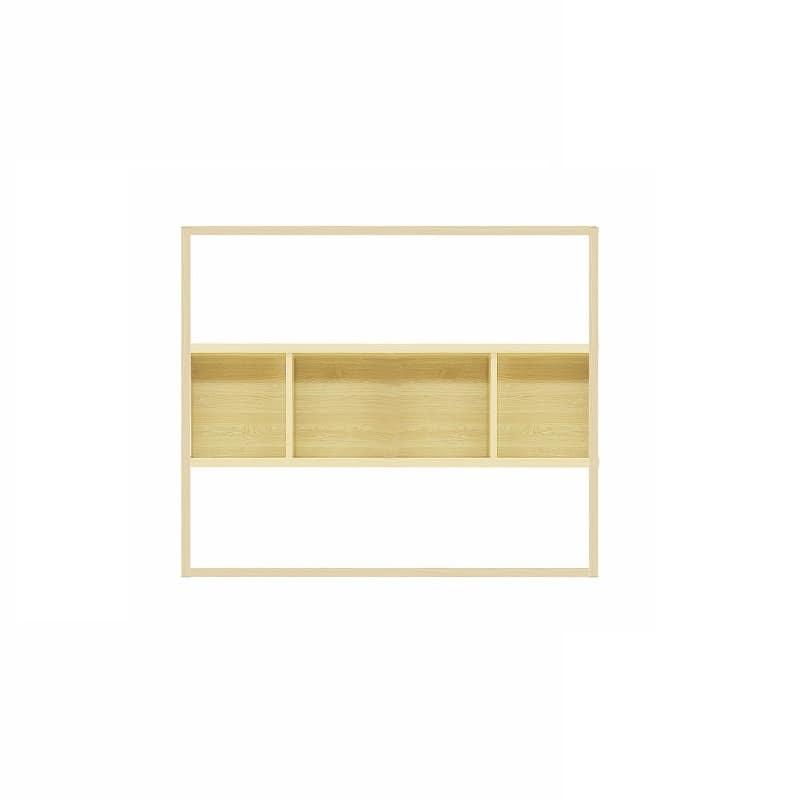 【セット】ラックタイプ ボックス1600 Lタイプ OAK:収納力&解放感の両立