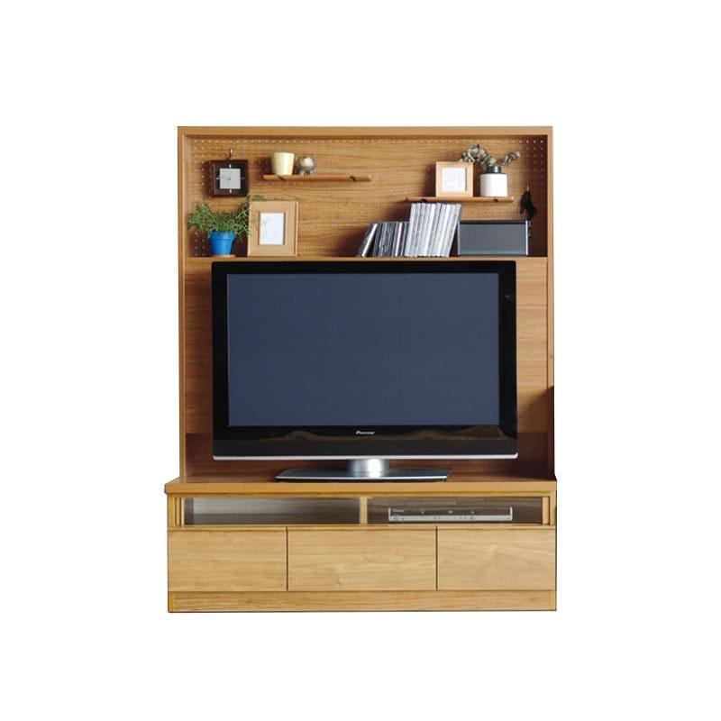 TVボード カデナ テレビ 130TN ナチュラル:TVボード ※電化製品、小物類はイメージです。