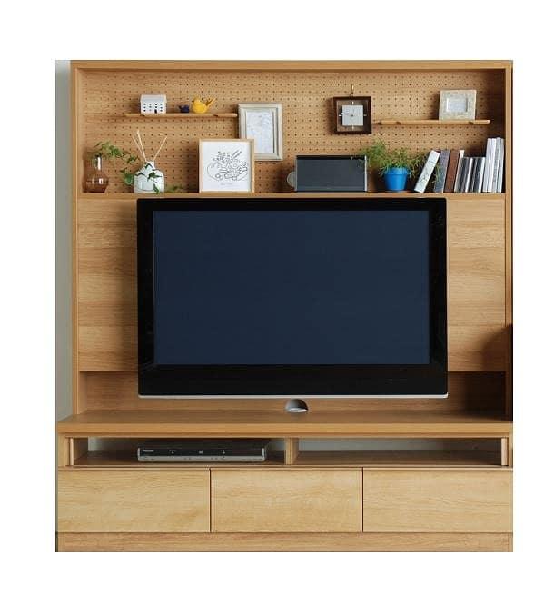 TVボード カデナ テレビ 150TN ナチュラル:TVボード ※電化製品、小物類はイメージです。