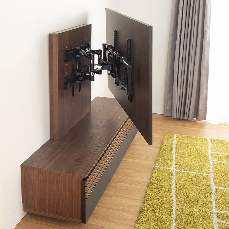 ローボード ストーネ150TVB:【オプション】壁掛けテレビは角度の調節が自由