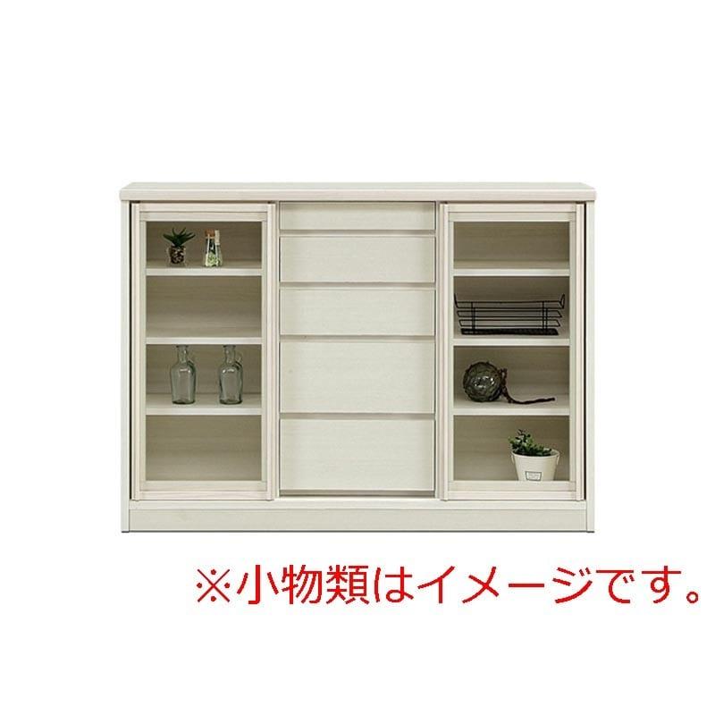 サイドボード サニー120 ガラス戸 奥行30cm WH色:選べる!幅3サイズ×奥行2サイズ×3色×ガラス戸or板戸。