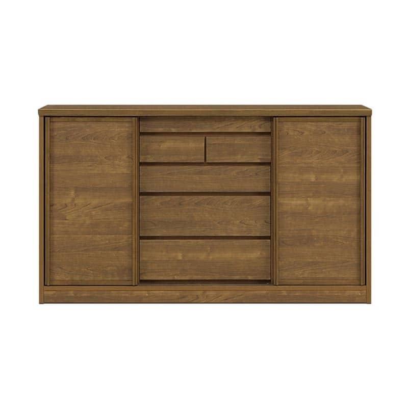 サイドボード サニー150 板戸 奥行30cm BR色:選べる!幅3サイズ×奥行2サイズ×3色×ガラス戸or板戸。