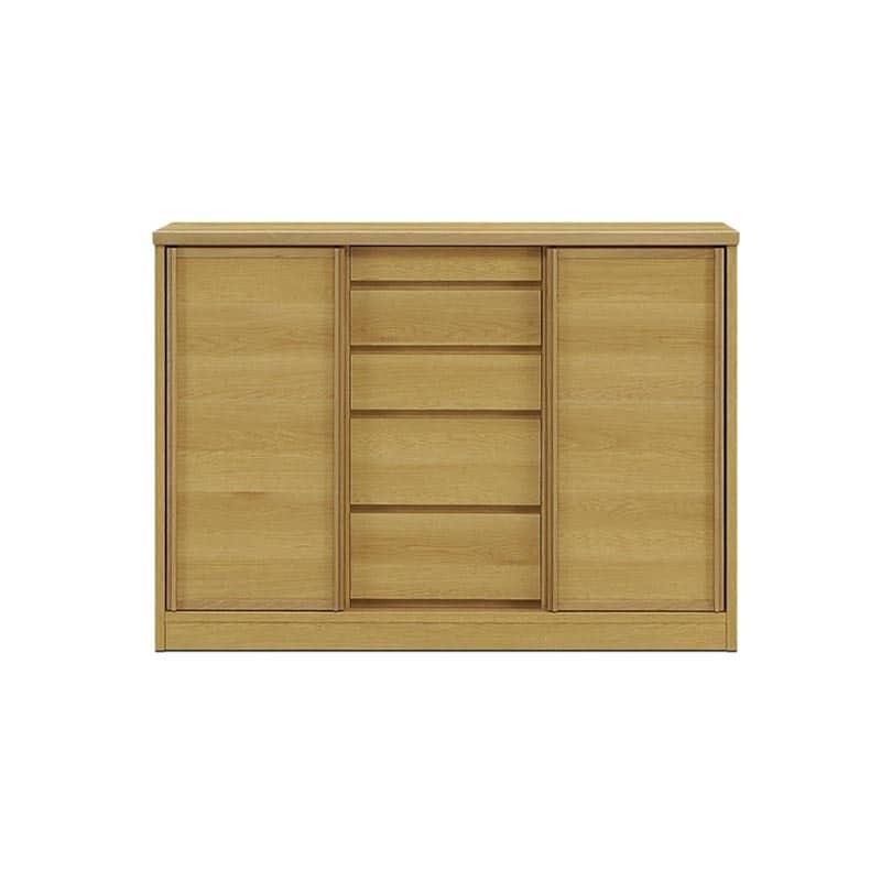サイドボード サニー120 板戸 奥行30cm NA色:選べる!幅3サイズ×奥行2サイズ×3色×ガラス戸or板戸。