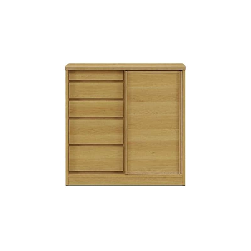 サイドボード サニー90 板戸 奥行40cm NA色:選べる!幅3サイズ×奥行2サイズ×3色×ガラス戸or板戸。