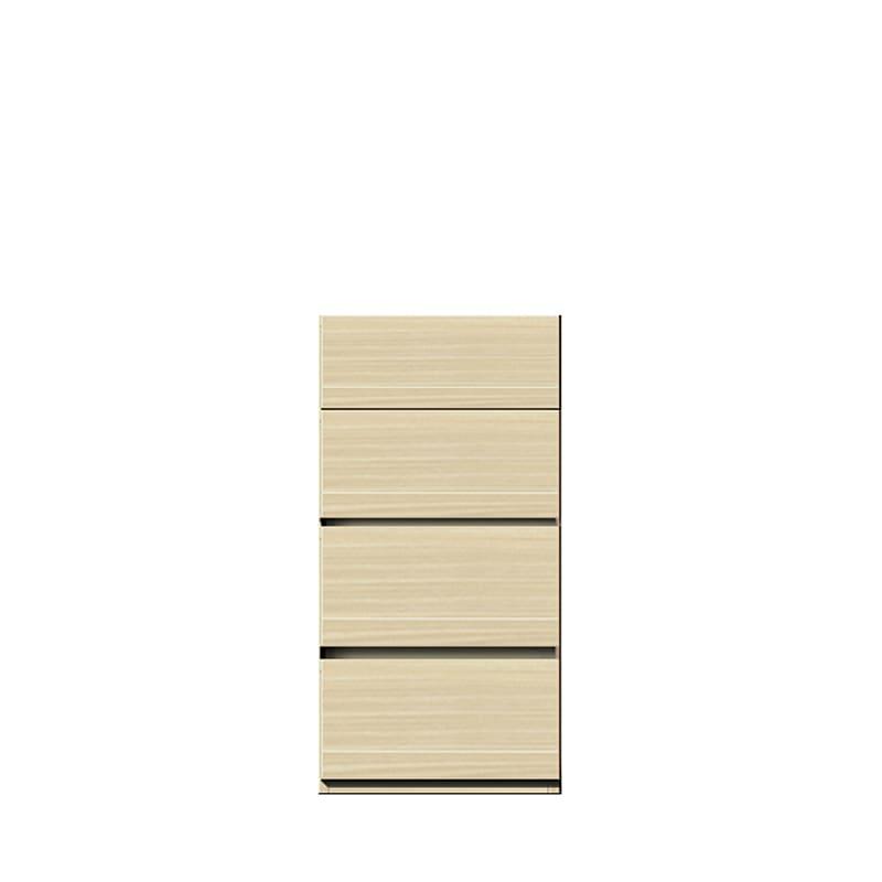 チェスト パッチ�U 40NA (ナチュラル):リビング家電と収納をこれ1台にスッキリ収納