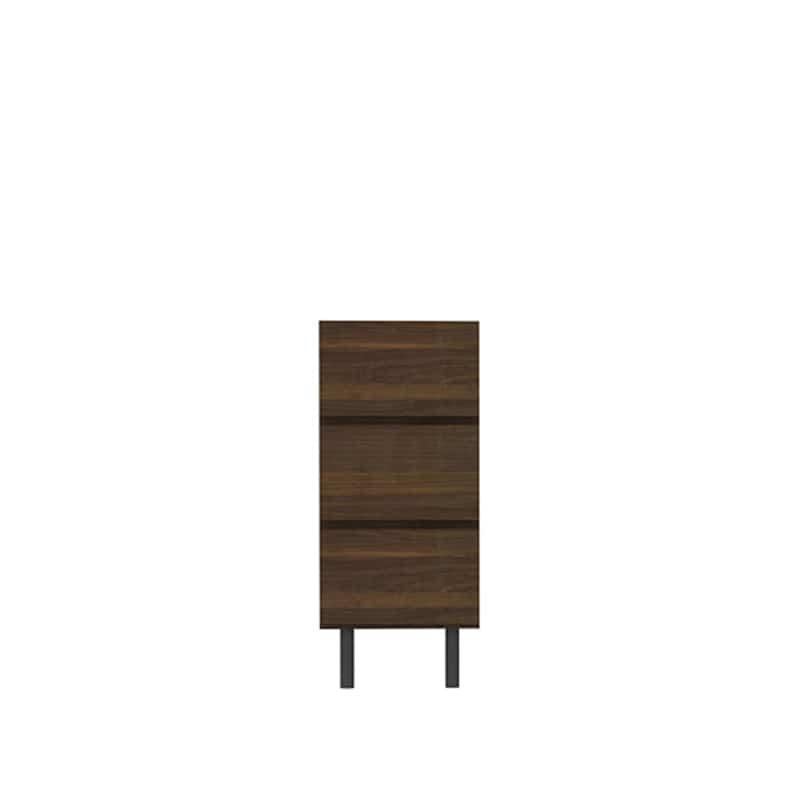リビングボード(引出3段) WV−43 N(ウォールナット):高めの脚が抜け感を演出し、軽快感のあるテレビボードです
