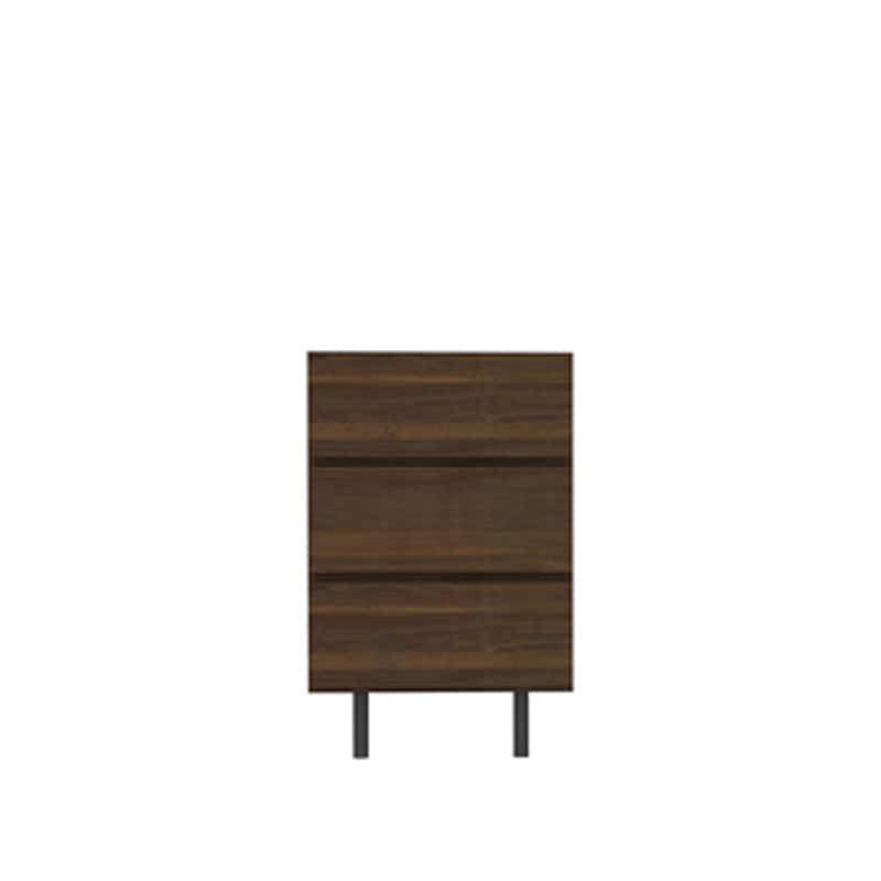 リビングボード(引出3段) WV−63 N(ウォールナット):高めの脚が抜け感を演出し、軽快感のあるテレビボードです