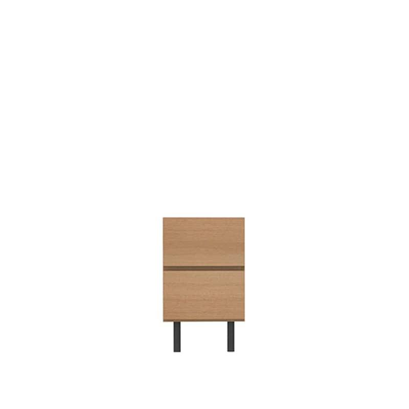 リビングボード(引出2段) WV−40 O(アイダホオーク):高めの脚が抜け感を演出し、軽快感のあるテレビボードです