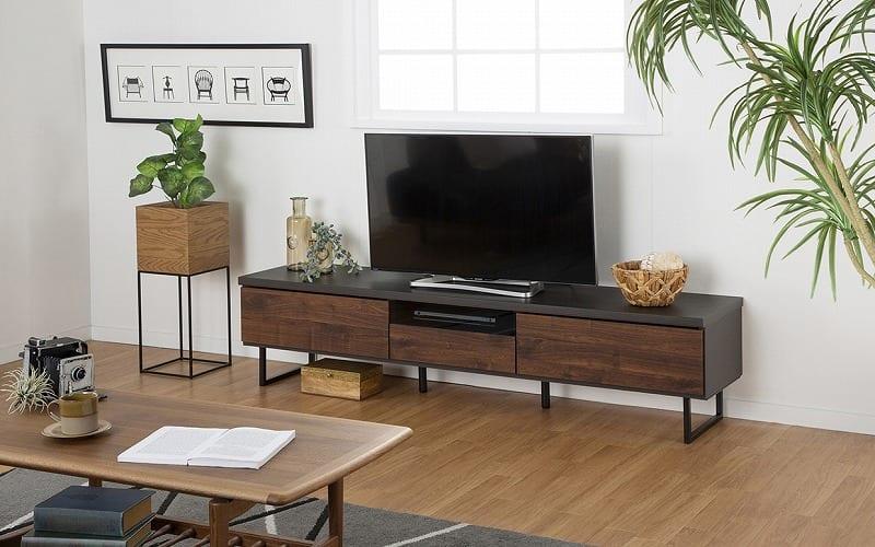 ローボード グローレ180 NA:モダンなツートンデザインを楽しめるテレビ台