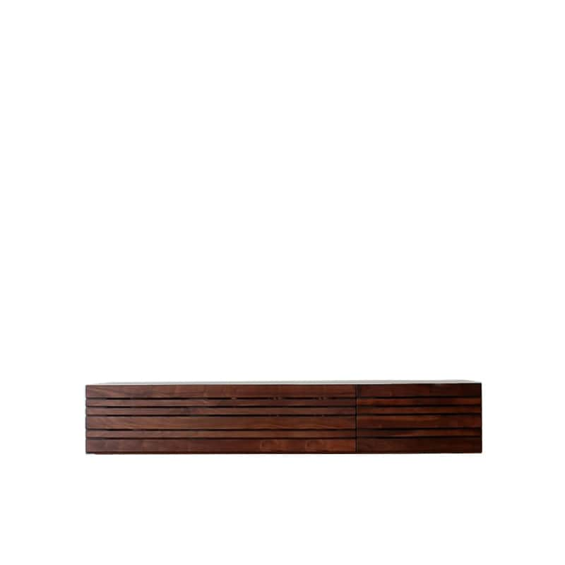 ローボード エルドラ テレビ150 脚なし ブラウン:材料、塗料すべて最高水準のF☆☆☆☆
