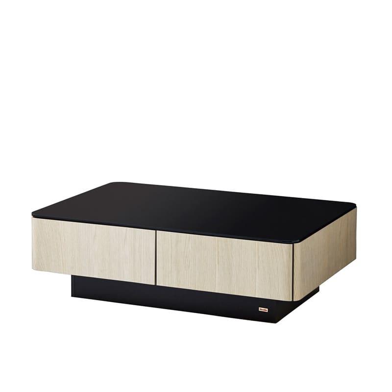 リビングテーブル ストレージ120 OK−WH:天然無垢材と天然無垢を使用した質感高いデザインでリビングを演出