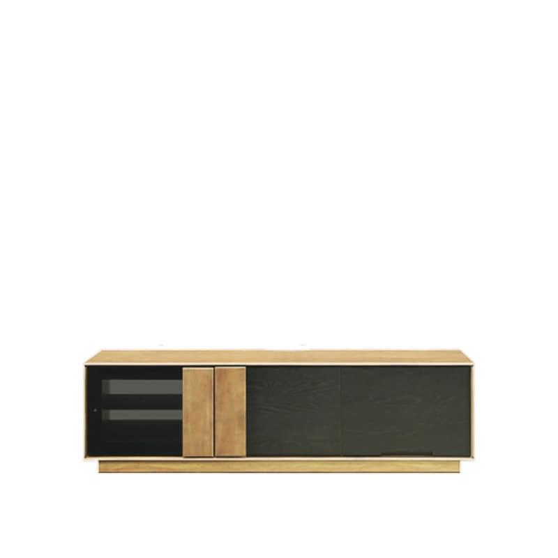 ローボード マーシャル 150TVB LBR:天然杢を使用したツートンデザインのローボードです。
