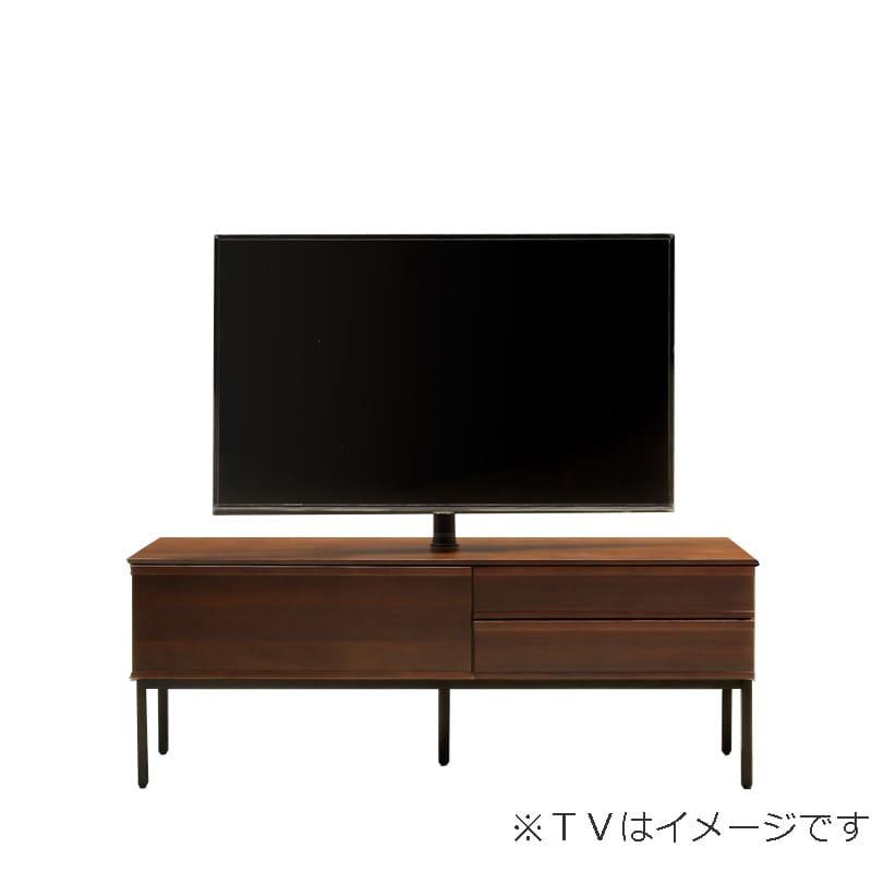 ローボード PALO(パロ) 150TVB/アイアン脚/壁掛け回転ポール付き MBR:壁掛け回転ポール自体が回転する為、簡単にテレビの角度を変えることができます。