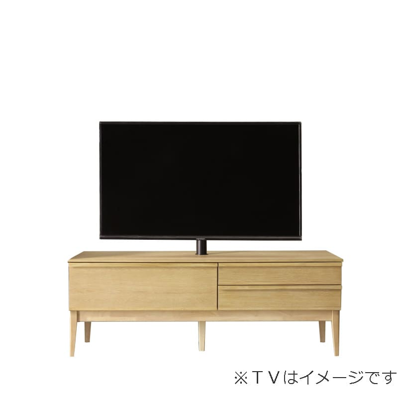 ローボード PALO(パロ) 150TVB/木脚/壁掛け回転ポール付き LBR:壁掛け回転ポール自体が回転する為、簡単にテレビの角度を変えることができます。