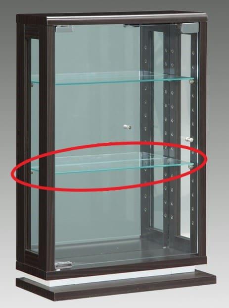 【ネット限定】ガラス棚板 ライフ 40用追加ガラス棚板:コンパクトサイズの卓上式キュリオケース