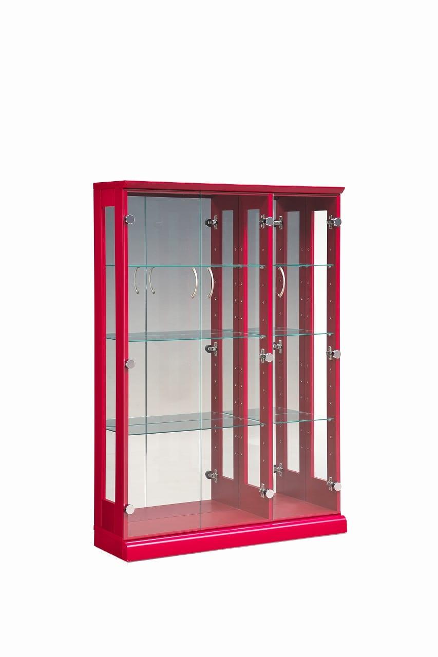 【ネット限定】コレクションボード スキニー 90 RD:幅90cm 3枚扉のキュリオケース