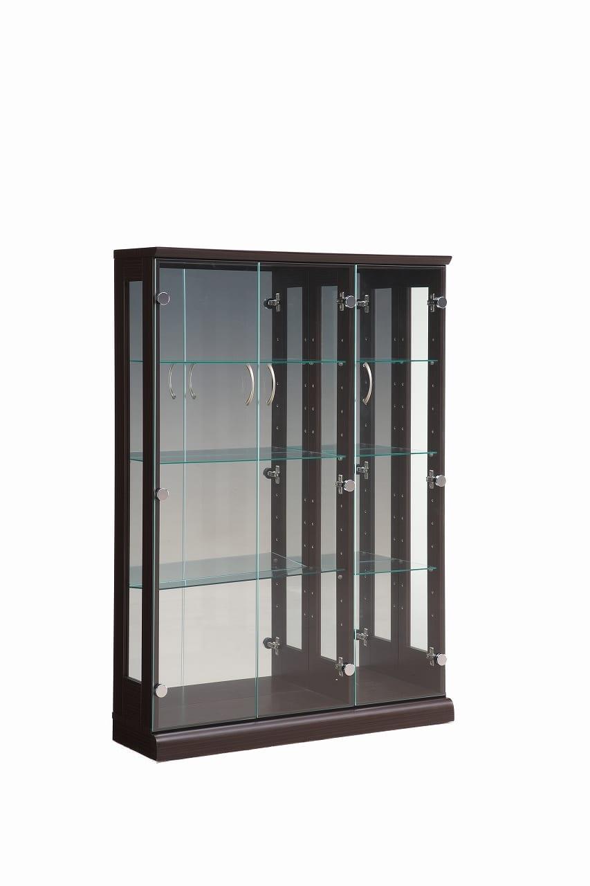 【ネット限定】コレクションボード スキニー 90 BR:幅90cm 3枚扉のキュリオケース