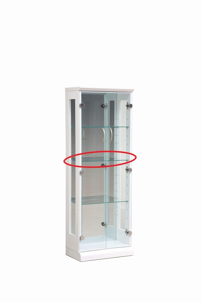 【ネット限定】ガラス棚板 スキニー 45用追加ガラス棚板:スキニー45cm用ガラス棚板