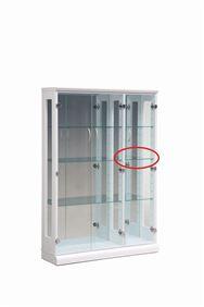 【ネット限定】ガラス棚板 スキニー 90用追加ガラス棚板(小)