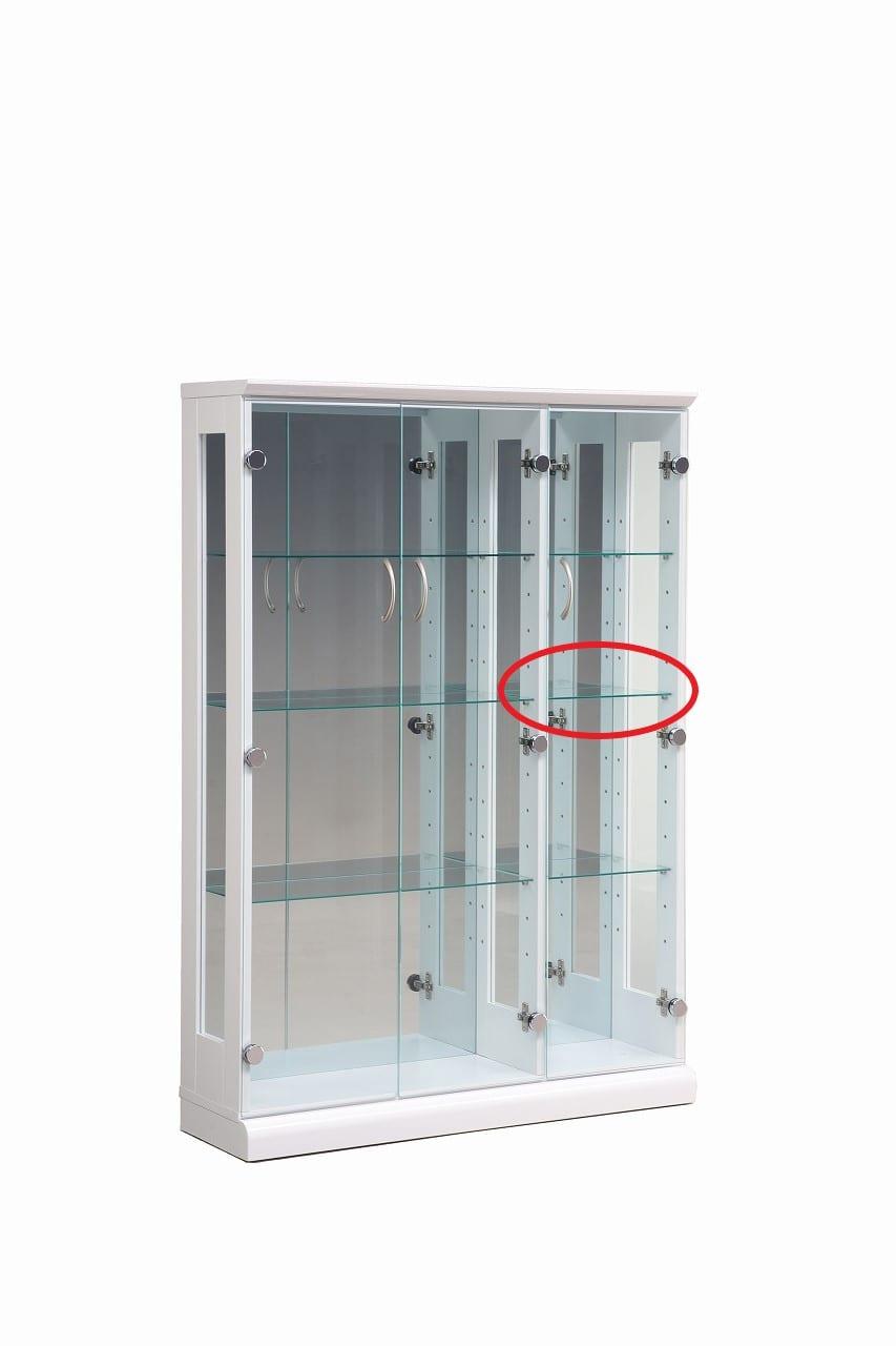 【ネット限定】ガラス棚板 スキニー 90用追加ガラス棚板(小):スキニー90cm(小)用ガラス棚板