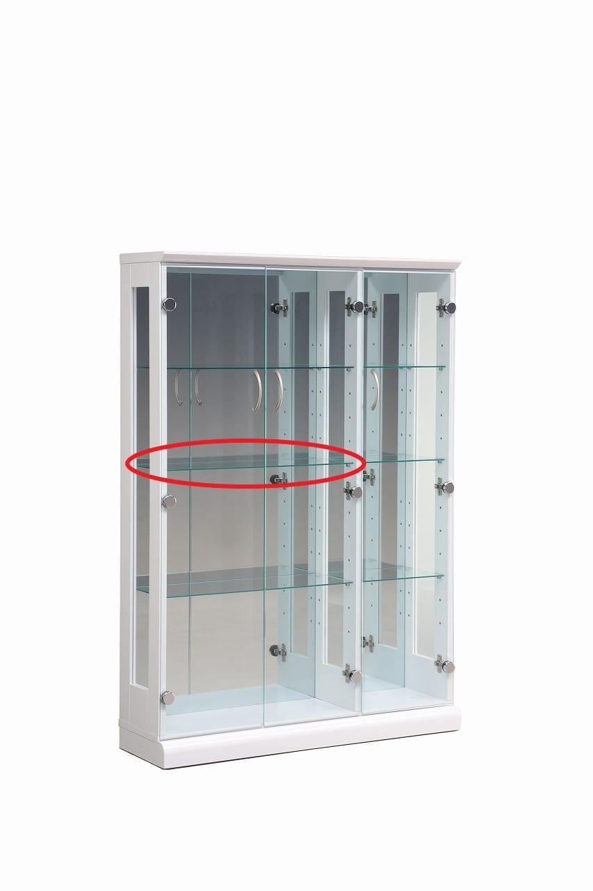 【ネット限定】ガラス棚板 スキニー 90用追加ガラス棚板(大):スキニー90cm(大)用ガラス棚板