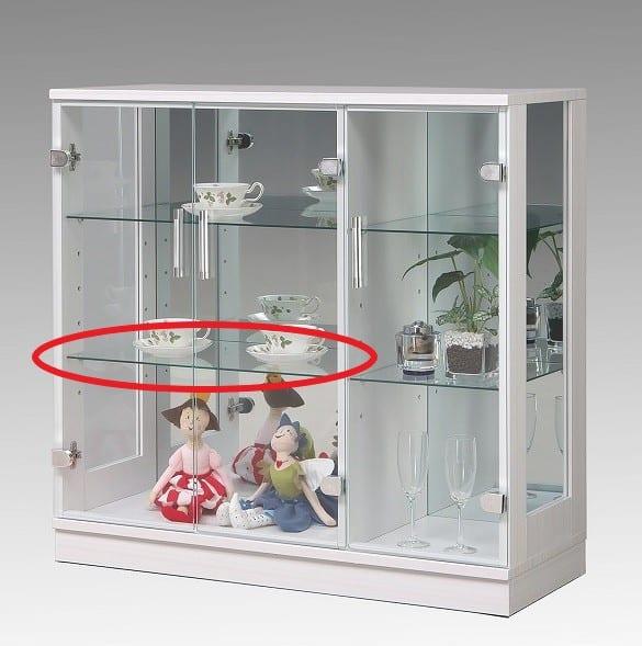 ガラス棚板 キュート 90用追加ガラス棚:ガラス棚板 キュート 90用追加ガラス棚