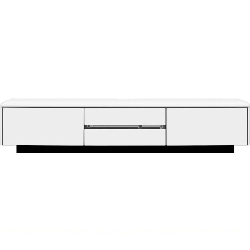 【ネット限定】テレビ台 ローボードアルコ 180TVボード WH:流線型の美しいデザインが特徴です