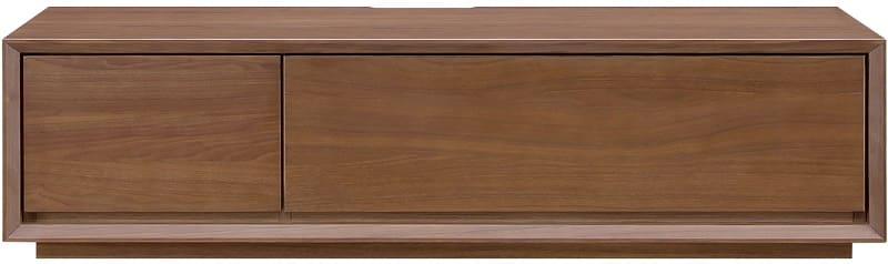 【ネット限定】テレビ台 ローボードクラフト150 MBR:ウォールナット天然目の高級感のあるリビングボード