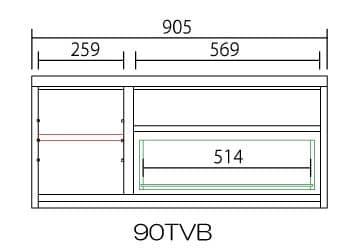 【ネット限定】テレビ台 ローボード デミオ90 WH